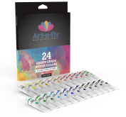 Watercolour Paint Set 24 Colours Professional Artist Grade Pigment Rich Water Colour Art Painting Kit