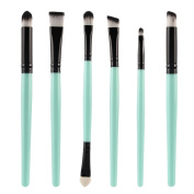 BUYITNOW Brush Set 6PCS Professional Cosmetic Makeup Lip Blushes Eye Eyeshadow Brushes Green