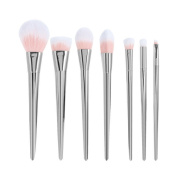 BUYITNOW Makeup Brush Set Face Eye Cosmetics Foundation Powder High Brushes Silver