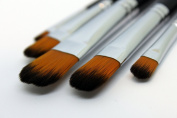 Professional Paintbrush Set - Set of 5 Artists Paint Brushes for Watercolour, Acrylic, Gouache, etc.