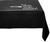 Chart and Soul Eraseable Chalkboard Tablecloth / Table Runner Cover for Parties, Decor and Dinner Events