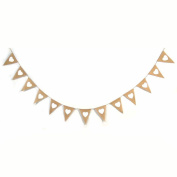 Crazy Night Natural Burlap Banner with Jute Cord Party Decoration Party Favour