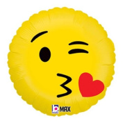 Emoji Kiss Mylar Balloon
