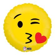 Emoji Kiss Mylar Balloon