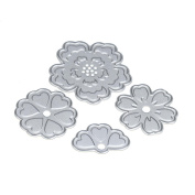 Mikey Store Flower Heart Metal Cutting Dies Stencils DIY Scrapbooking Album Paper Card Craft
