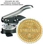 "Stamps By SPC // Custom Desktop Embosser (Seal) // ""Seal of Achievement""; Impression"