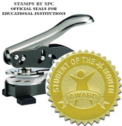"""Stamps By SPC // Custom Desktop Embosser (Seal) // """"Student Of The Month""""; Impression"""
