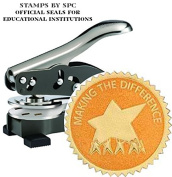 """Stamps By SPC // Custom Desktop Embosser (Seal) // """"Making A Difference""""; Impression"""