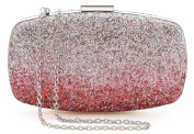 Yuenjoy Womens Evening Bags Wedding Clutch Purse with Gradient Colours Glitter