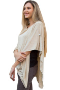 Oatmeal Nursing Cover Poncho| Multi Purpose Nursing Poncho Cover | Car Seat Cover, Maternity Top, Swaddle, And More.