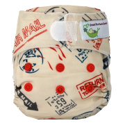 Sweet Pea Newborn All-In-One Nappy, Stamps