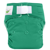 Sweet Pea Newborn All-In-One Nappy, Teal Green
