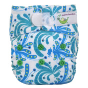 Sweet Pea Newborn All-In-One Nappy, Peacock Plume