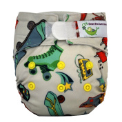 Sweet Pea Newborn All-In-One Nappy, Roller Skate