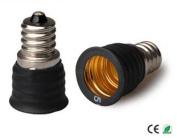 E-Simpo 10-pack E12 to E17 Adapter,E12 to E17 Lamp Base Converter,Copper, Z1102