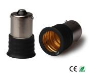 E-Simpo 12-pack BA15S to E17 Adapter,BA15S to E17 Lamp Base Converter,Copper, Z1093