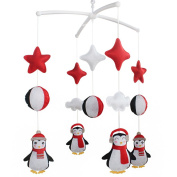 [Cute Penguin] Adorable Baby Musical Crib Mobile Birthday Gift