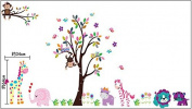 Kids Pink Elephant safari Wall Stickers Wall Decals for Kids Baby Girl's Rooms Nursery
