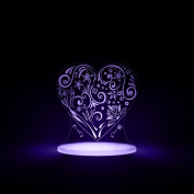 Heart Night Light, LED 12 colours with interactive remote