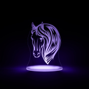 Horse Night Light, LED 12 colours with interactive remote