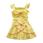 Baby Toddler Girl Swimsuit Kid Girl One Piece Swimwear Bow Swim Dress