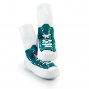 Mocc Ons Sneaker Slippers - 12-18 Months, Turquoise
