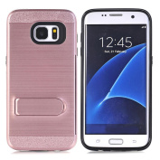 VoberryBling Hard Rubber Impact Armour Case Back Hybrid For Samsung Galaxy S7 Edge