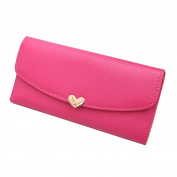 SZTARA Ladies Cute Envelope Leather Wallets Card Holder Purse for Change Coin Business Cards