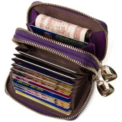 BOSTANTEN Women's Leather Credit Card Holder Case Wallet with ID Window