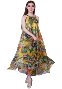 MedeShe Women's Maternity Floral Holiday Beach Lightweight Flattering Holiday Maxi Dress