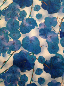 1/2 yard Blue Violets on Vines - Cotton Fabric - (Great for Quilting, Sewing, Craft Projects, Quilt, Throw Pillows & More) 1/2 Yard X 110cm