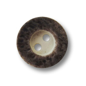 Button Paradise Sewing Buttons - Set of 10 Deer Horn Look Plastic Buttons, Lightweight, Washable - Colour