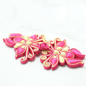 Lyracces Sewing Fasteners knotting butterfly Satin Fabric Cotton Stuff Chinese decorative knots Cheongsam Frogging Button 1pair