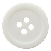 140 Pieces 4 Hole Round White Buttons Diy Sewing Accessory Wholesale - Size Available
