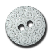 Button Paradise Sewing Buttons - Set of 10 Stunning Plastic Buttons, Mystic Design with Glitter Spiral Pattern - Colour