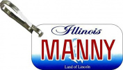 Personalised Illinois 2001 Zipper Pull State Licence Plate Replica