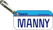 Personalised Illinois 1984 Zipper Pull State Licence Plate Replica
