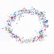 1Box White/Mixed Colours Glass Head Pins Dressmaker Pins Decorative Pins Boxed (1X800 Count)