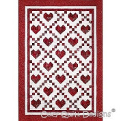 Pattern, Cross My Heart, Cosy Quilt Designs, for 6.4cm Strips, Pieced Hearts,
