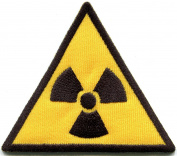 Radiation sign symbol danger warning embroidered applique iron-on patch new S-1321