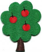 Apple tree retro embroidered applique iron-on patch new S-1317