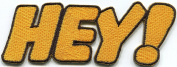 HEY! howdy hello hi comics retro fun embroidered applique iron-on patch S-1309