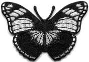 Black Butterfly rock n roll goth embroidered applique iron-on patch new S-1308