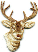 Deer buck wildlife embroidered applique iron-on patch new S-1305