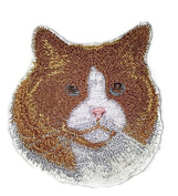 Amazing Custom Cat Portraits[Ragdoll Cat Face ] Embroidered Iron On/Sew patch [10cm x 9.1cm ]Made in USA]