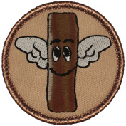 The Flying Bacon Patrol Patch - 5.1cm Diameter Round Embroidered Patch