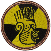Nuclear Savages Patrol Patch - 5.1cm Diameter Round Embroidered Patch