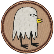 Ghost Chicken Patrol Patch - 5.1cm Diameter Round Embroidered Patch