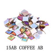 Nizi Jewellery 2mm 4mm 6mm COFFEE AB Colour Square Flatback Acrylic Rhinestones Shiny Stones Nail Rhinestone