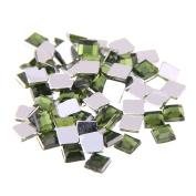 Nizi Jewellery 2mm 4mm 6mm OLIVE Colour Square Flatback Acrylic Rhinestones Shiny Stones Nail Rhinestone